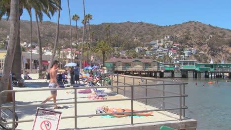 The-beachfront-at-Catalina-Island-resort-in-Southern-California