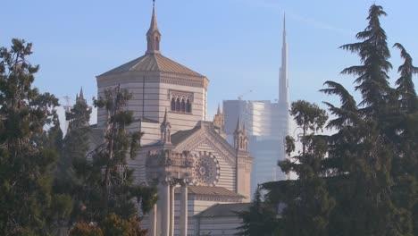The-modern-skyline-of-Milan-Italy