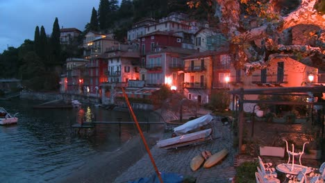 A-beautiful-small-Italian-village-on-the-shores-of-Lake-Como-at-night-1
