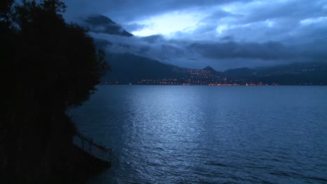 A-beautiful-small-Italian-village-on-the-shores-of-Lake-Como-at-night-5