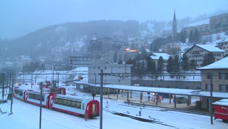 The-train-station-in-St-Moritz-Switzerland-during-a-snowstorm