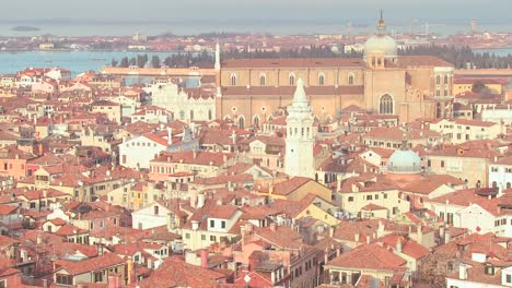 A-high-angle-establishing-overview-of-Venice-Italy