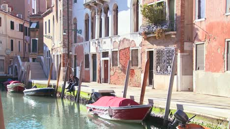A-quiet-canal-scene-in-Venice-Italy