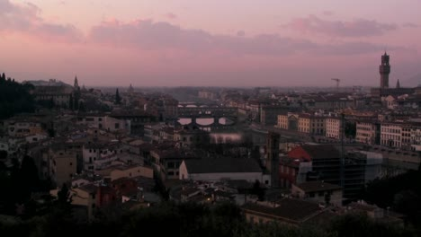Time-lapse-dusk-clouds-moving-over-Florence-Italy