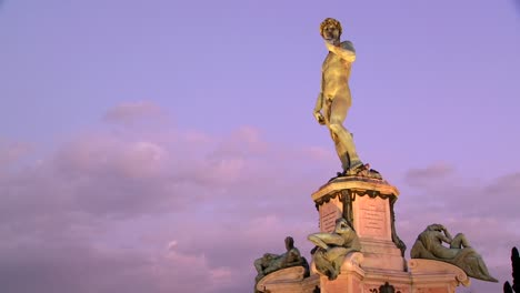 State-of-David-at-dusk-in-Florence-Italy