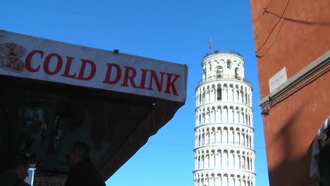 A-snack-stand-serves-cold-drinks-near-the-Leaning-Tower-of-Pisa-in-Italy
