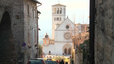 The-main-church-in-the-town-of-Assisi-Italy