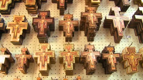 Hundreds-of-souvenir-crosses-hang-in-a-gift-shop-at-a-Christian-holy-site