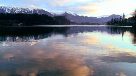 Dawn-at-Lake-Bled-Slovenia