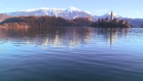 A-church-stands-on-a-small-island-in-Lake-Bled-Slovenia-4