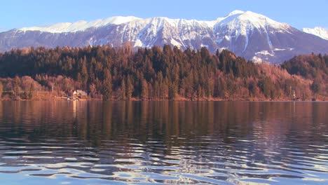The-beautiful-shores-of-Lake-Bled-Slovenia-resemble-Colorado