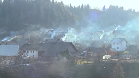 Villages-in-Eastern-Europe-pollute-the-environment-by-burning-wood-and-coal