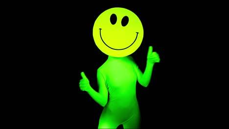 Happy Face Acid Party Medium Hand Waving Flag