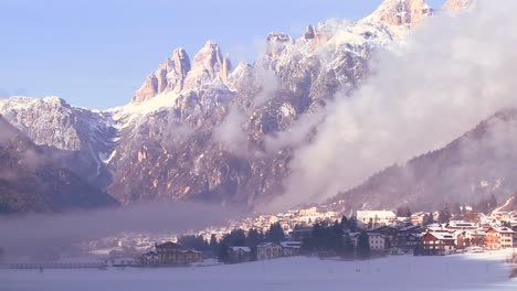 A-distant-snowbound-village-in-the-Alps-in-Austria-Switzerland-Italy-Slovenia-or-an-Eastern-European-country