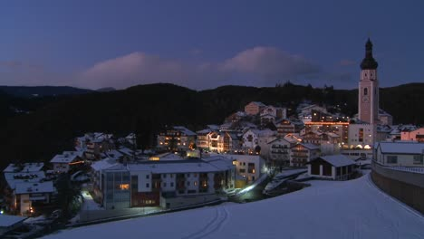 Night-scene-in-a-snowbound-Tyrolean-village-in-the-Alps-in-Austria-Switzerland-Italy-Slovenia-or-an-Eastern-European-country-2