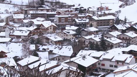 A-small-European-village-is-buried-in-a-snowstorm