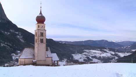 An-Eastern-church-in-a-snowbound-Tyrolean-village-in-the-Alps-in-Austria-Switzerland-Italy-Slovenia-or-an-Eastern-European-country