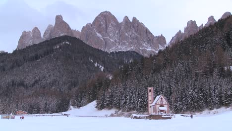 A-beautiful-church-is-nestled-in-the-Alps