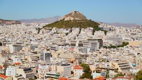 Plano-Amplio-De-Establecimiento-De-Atenas-Grecia-Bajo-El-Sol-1