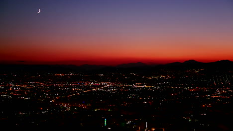 A-night-sunset-shot-over-a-busy-city-metropolis