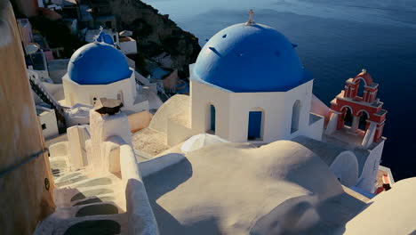 A-beautiful-slow-pan-of-a-Greek-Orthodox-church-on-the-Greek-island-of-Santorini