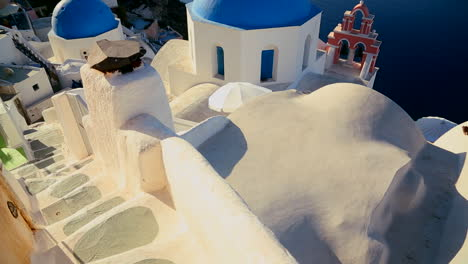 Tilt-up-to-a-Greek-Orthodox-church-on-the-Greek-island-of-Santorini