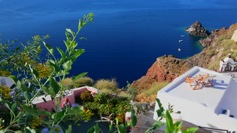 Deck-chairs-sit-on-a-beautiful-balcony-in-the-Greek-Islands