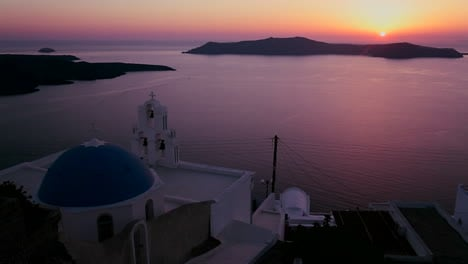 An-amazing-and-beautiful-sunset-behind-a-Greek-Orthodox-Church-on-the-Greek-Island-of-Santorini-5
