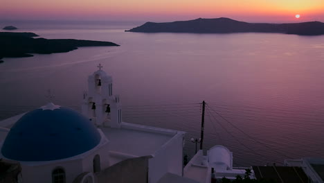An-amazing-and-beautiful-sunset-behind-a-Greek-Orthodox-Church-on-the-Greek-Island-of-Santorini-6