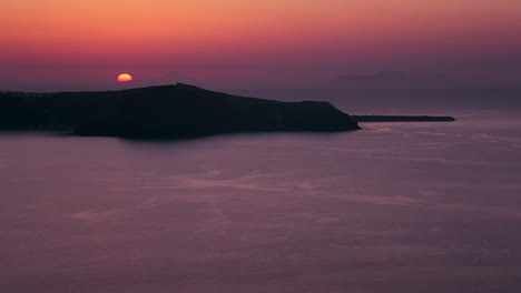 A-beautiful-sunset-behind-islands-in-the-Greek-Isles