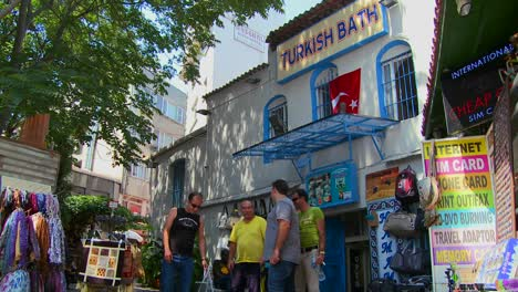 Exterior-of-a-Turkish-bathhouse-in-Istanbul-Turkey