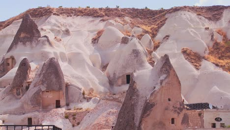 Strange-dwellings-and-rock-formations-at-Cappadocia-Turkey