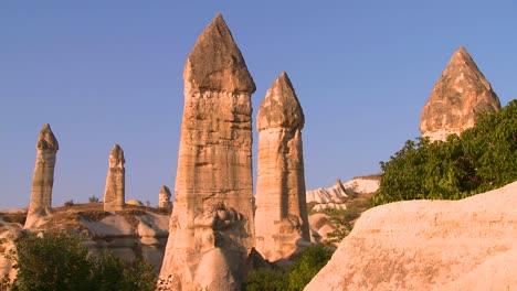 Penis-like-formations-on-a-hillside-in-Cappadocia-Turkey