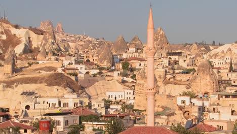 The-town-of-Goreme-in-Cappadocia-Turkey