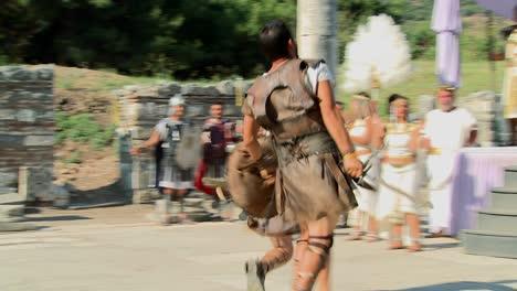 Costumed-actors-reenact-a-Greek-or-Roman-hand-to-hand-combat-fight