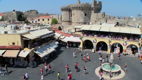 An-overview-of-the-European-town-square-at-Rhodes-Greece-1