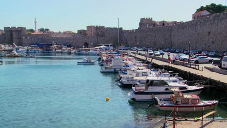 The-beautiful-harborfront-at-Rhodes-Greece