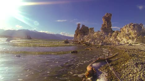 A-traveling-shot-along-the-shores-of-Mono-Lake-in-California-1