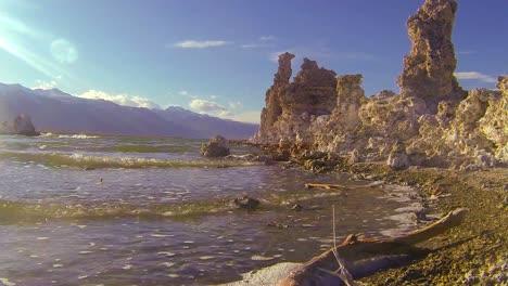 A-traveling-shot-along-the-shores-of-Mono-Lake-in-California-2