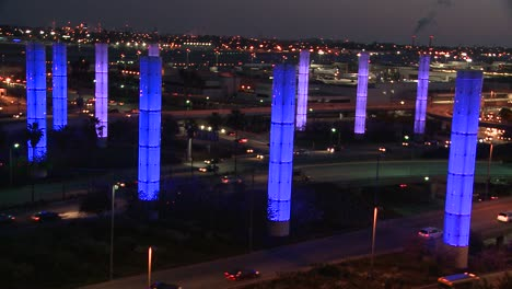 An-overview-of-Los-Angeles-International-airport-at-dusk-with-traffic-driving