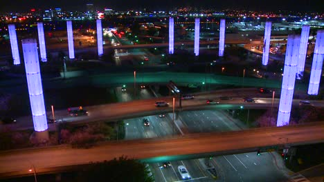 Beautiful-time-lapse-of-freeways-and-roads-around-Los-Angeles-International-airport