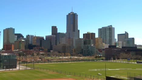 The-skyline-of-Denver-Colorado-skyline-ion-a-sunny-day