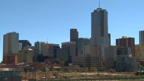 The-skyline-of-Denver-Colorado-skyline-ion-a-sunny-day-1