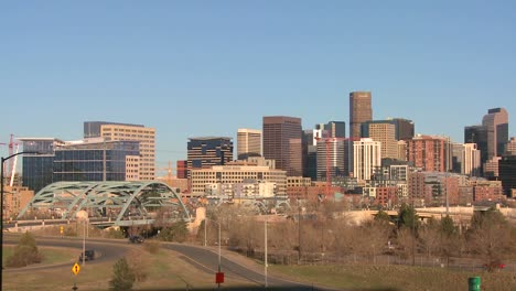The-skyline-of-Denver-Colorado-skyline-on-a-sunny-day