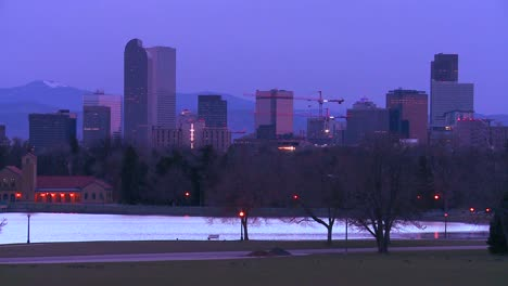 The-skyline-of-Denver-Colorado-skyline-at-dusk-in-purple-light-2