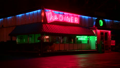 A-roadside-diner-at-night