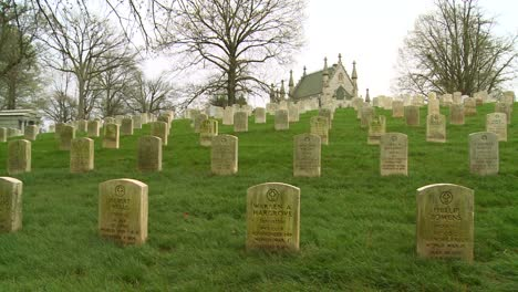 A-19th-century-cemetery-is-framed-by-a-church-on-a-hill
