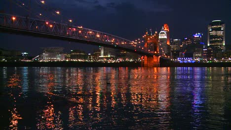 Light-reflects-off-the-Ohio-River-with-the-city-of-Cincinnati-Ohio-background-1