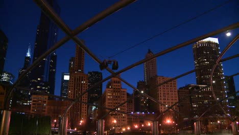 Downtown-Chicago-skyline-at-night-from-Millennium-park-1