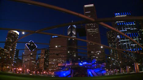 Downtown-Chicago-skyline-at-night-from-Millennium-park-2